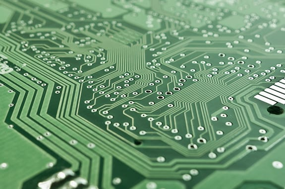 Closeup of circuit board